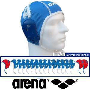 *Voordeelbundel* Arena waterpolo cap (size s/m) team set blauw 17 stuks
