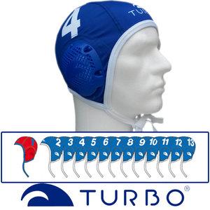 *Voordeelbundel* Turbo waterpolo cap (size s/m) team set blauw 13 stuks