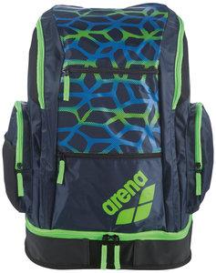 Actie gratis bidon Arena zwemtas Spiky 2 Large Backpack Spider spider-navy-fluogreen