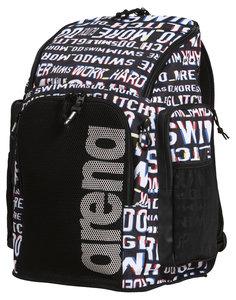 Actie gratis bidon Arena zwemtas Team Backpack 45 Allover neon-glitch