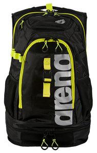 Actie gratis bidon Arena zwemtas Fastpack 2.1 black/fluo-yellow/silver
