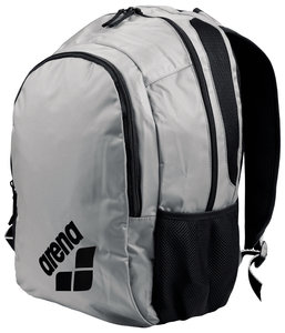 Actie gratis bidon Arena zwemtas Spiky 2 Backpack silver