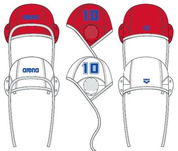Arena Water Polo Cap white (single nrs.) 12