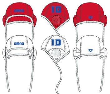 Arena Water Polo Cap white (single nrs.) 9