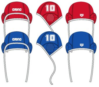 Arena Water Polo Cap blue (single nrs.) 1RED