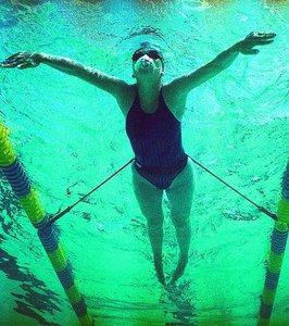 Turbo Strechcordz stationary swim trainer