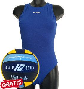 opruiming *showmodel* Waterpolo badpak FR36-D34-S Epsan blauw+gratis waterpolobal