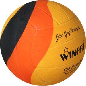 Voordeelbundel  (10+ prijs) Winart waterpolo bal Swirl maat 5 oranje geel zwart