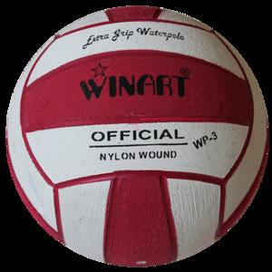 niet meer leverbaar (10+prijs) Winart waterpolobal mini-polo maat 3 rood wit rood