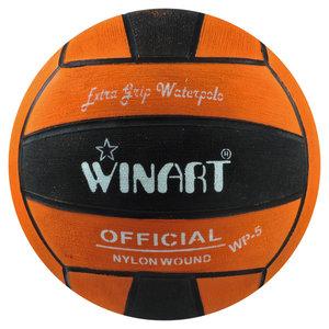 Winart waterpolobal heren maat 5 oranje-zwart