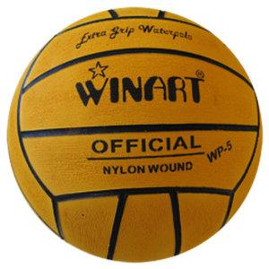 Winart waterpolobal mini-polo maat 3 geel-zwart