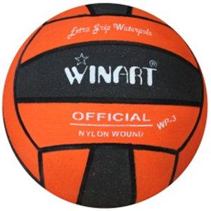 Winart waterpolobal mini-polo maat 3 zwart-oranje