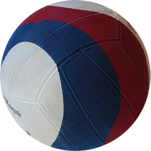 Voordeelbundel 10+ Winart waterpolo bal Swirl maat 5 rood wit blauw