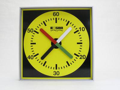 Epsan training-/pace klok prima, 67x67 cm, aluminimum met plexiglas
