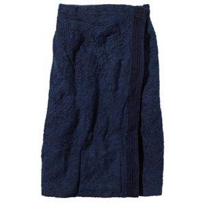BECO Saunakilt voor dames, klittenband, zakje, ca. 77 cm, donker blauw