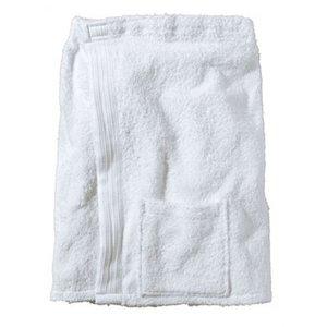 BECO Saunakilt voor heren, klittenband, zakje, ca. 54 cm, wit