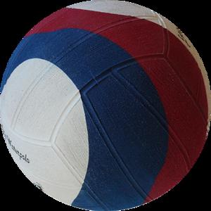 Winart waterpolo bal Swirl maat 5 rood wit blauw