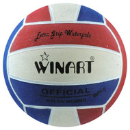 Winart waterpolobal heren maat 5 rood-wit-blauw